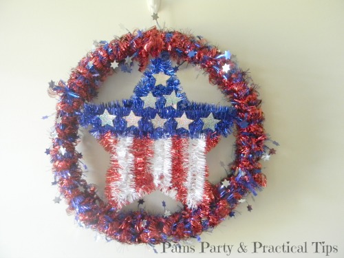 Quick and Easy Patriotic Star Wreath