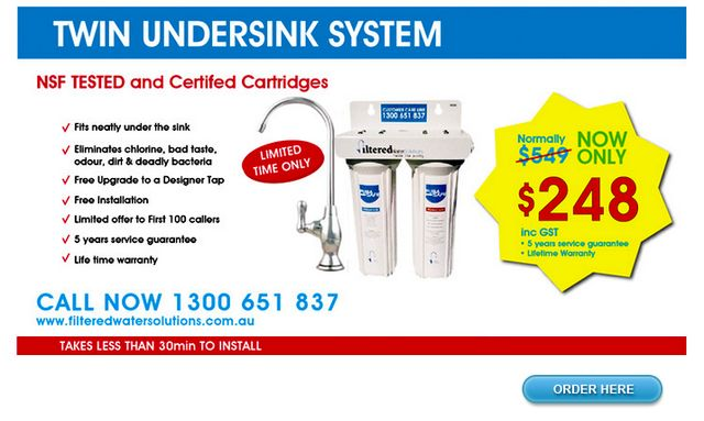 Wide Range of Water Filtration Systems from FilteredWaterSolutions.com.au
