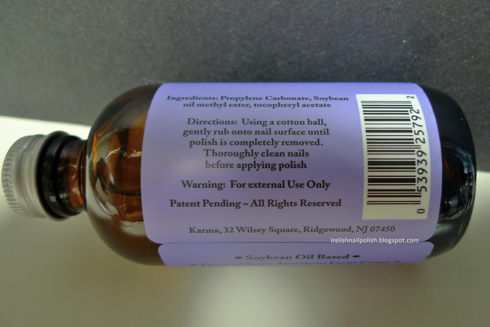 I Relish Nail Polish!: Soy Nail Polish Remover by Karma Naturals