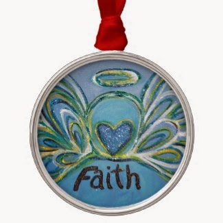 Faith Angel Word Ornament
