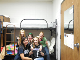 P-day (sitting on the bed bug bed before we knew there were bugs...ewww!!