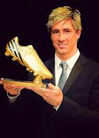 Fernando Torres con la Bota de Oro