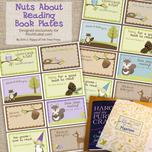 free printable bookplates templates - my owl barn freebie back to school bookplates