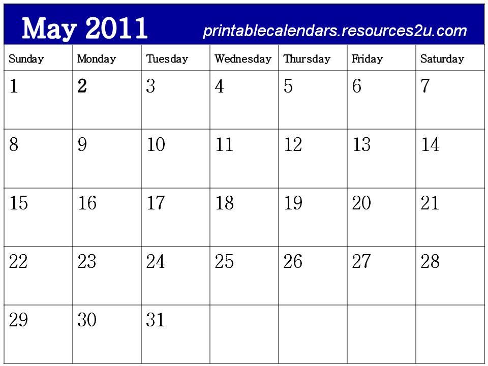 free printable blank calendars 2011. free printable blank calendars