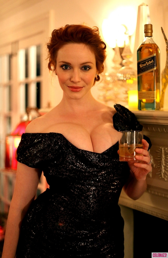 Christina Hendricks: propaganda de Johnnie Walker Blue Label