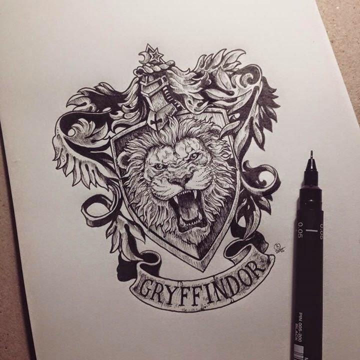 12-Harry-Potter-Gryffindor-Kerby-Rosanes-Detailed-Moleskine-Doodles-Illustrations-and-Drawings-www-designstack-co
