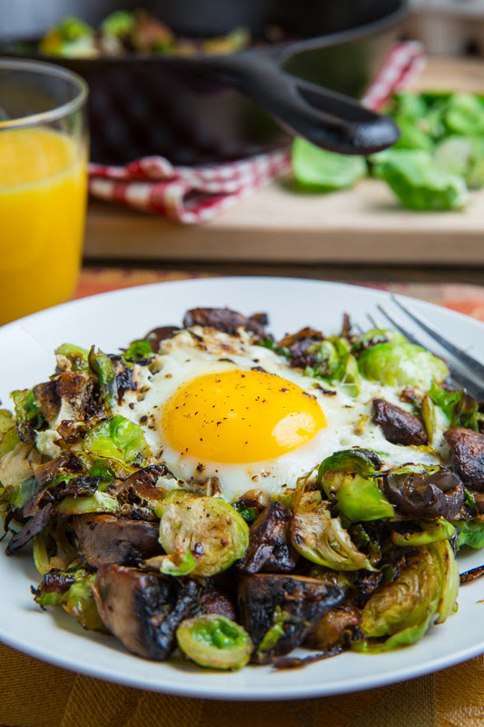 Brussels Sprout and Mushroom Hash on Closet Cooking