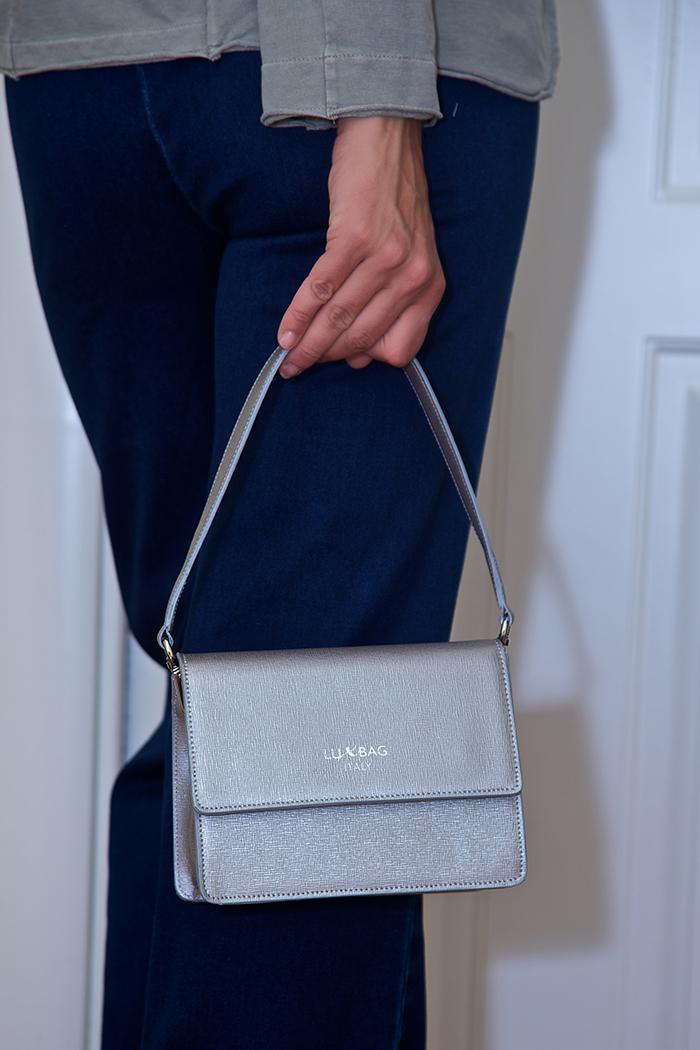 mini bag argento