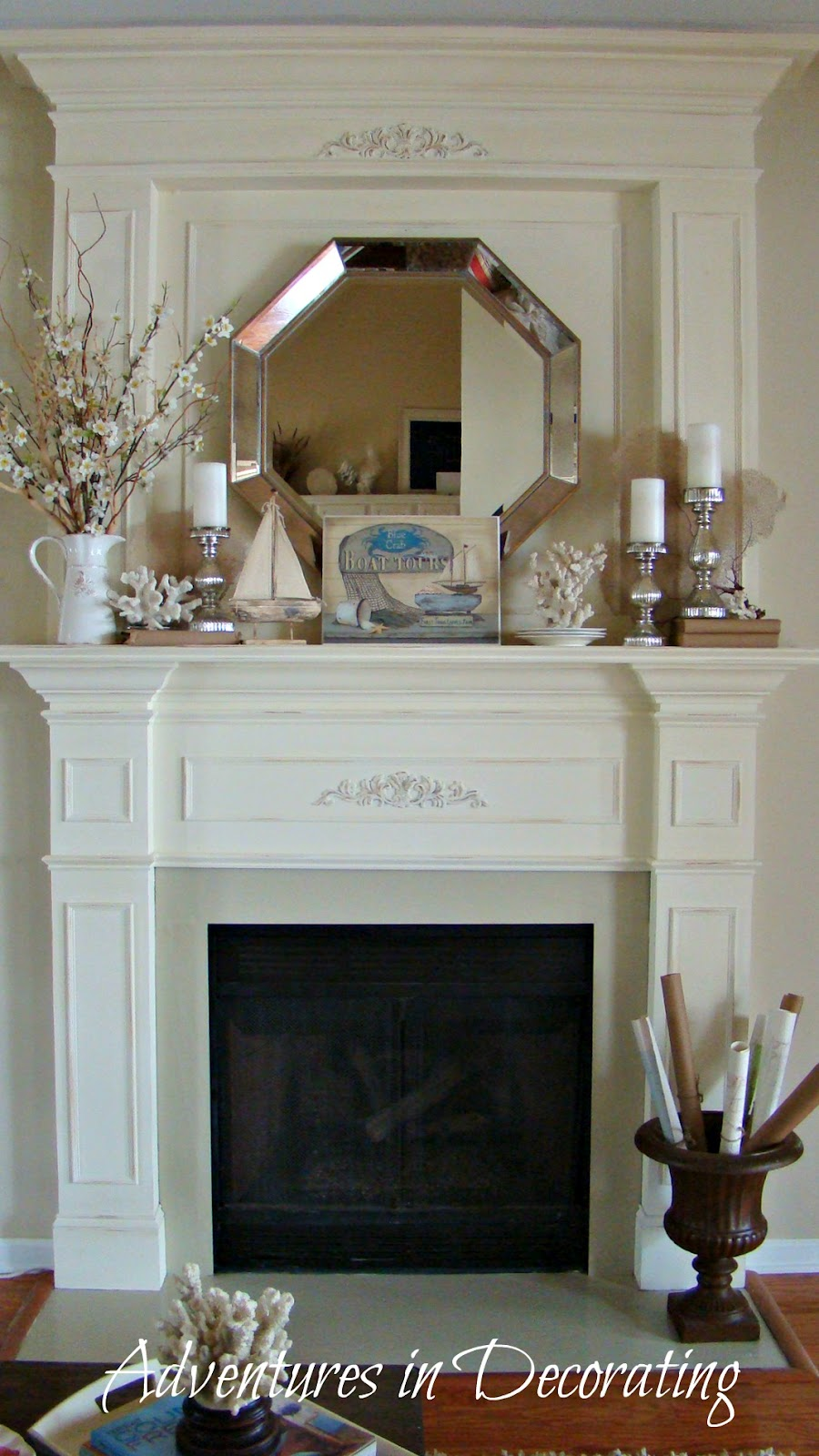 Decorating Ideas > Adventures In Decorating Summer Mantel ~ 141146_Fireplace Mantel Decorating Ideas For Summer