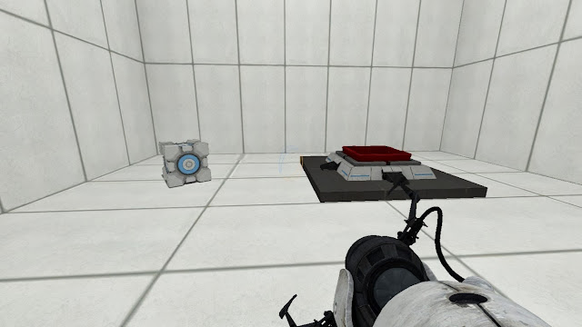 Botón de cubo y cubo contrapesado en Portal 2