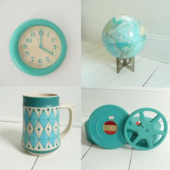 turquoise vintage pieces, inspiration with sytle