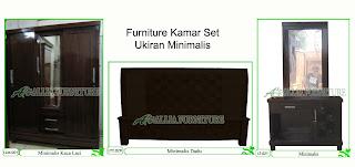 Kamar set Furniture Klender Minimalis Ukiran
