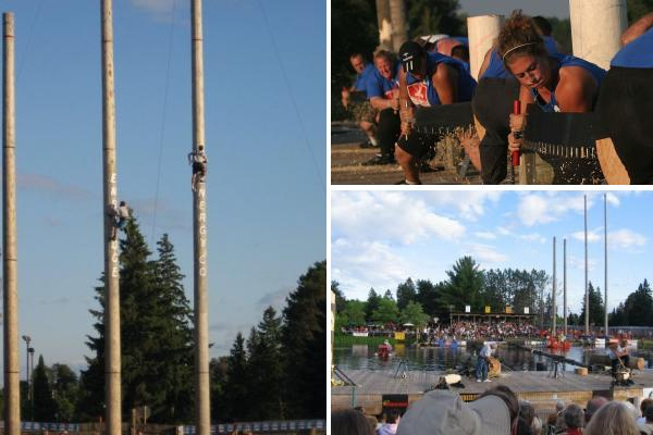 Deck the holiday s lumberjack world championships from