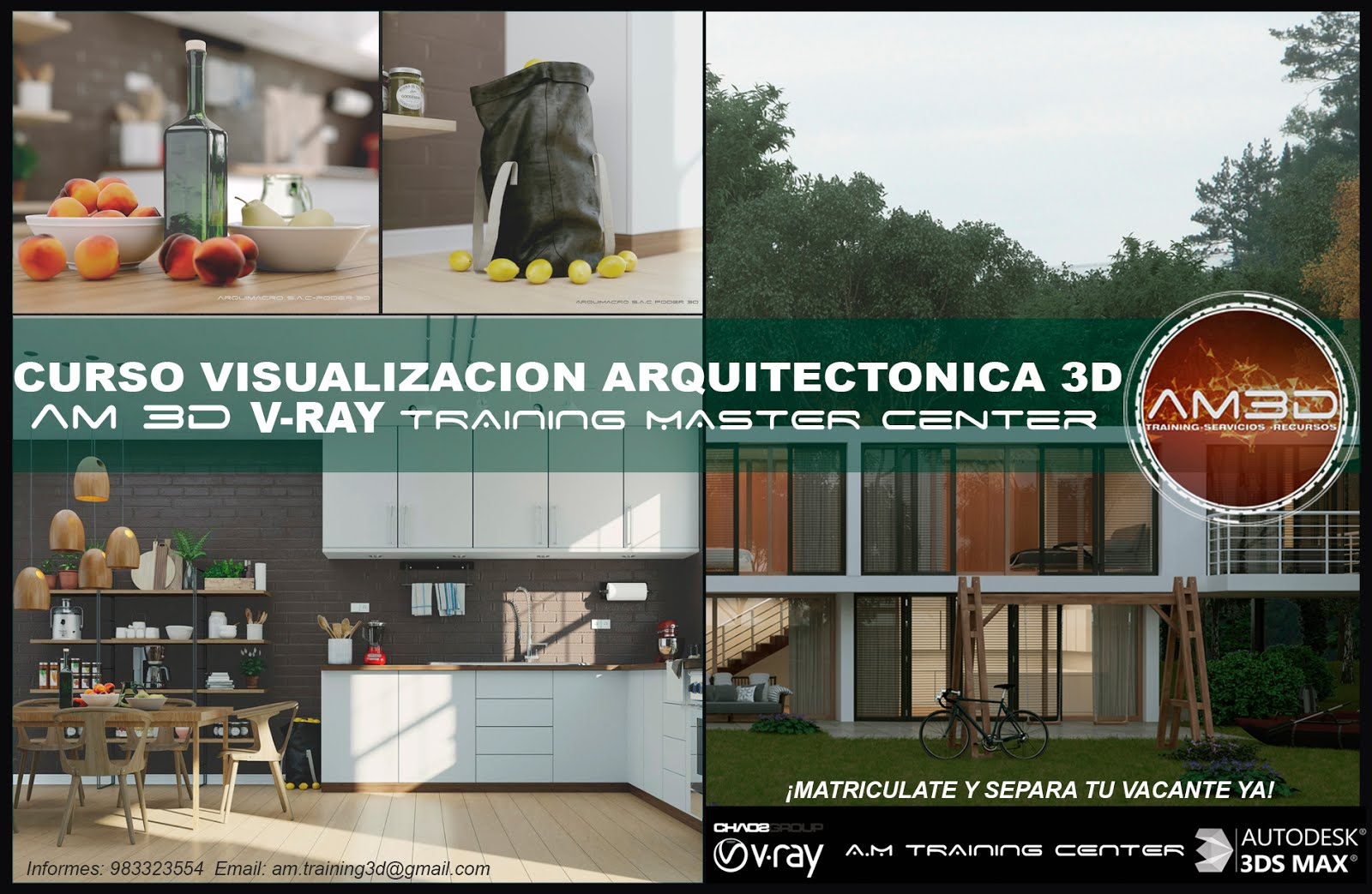 Cursos vray training Center