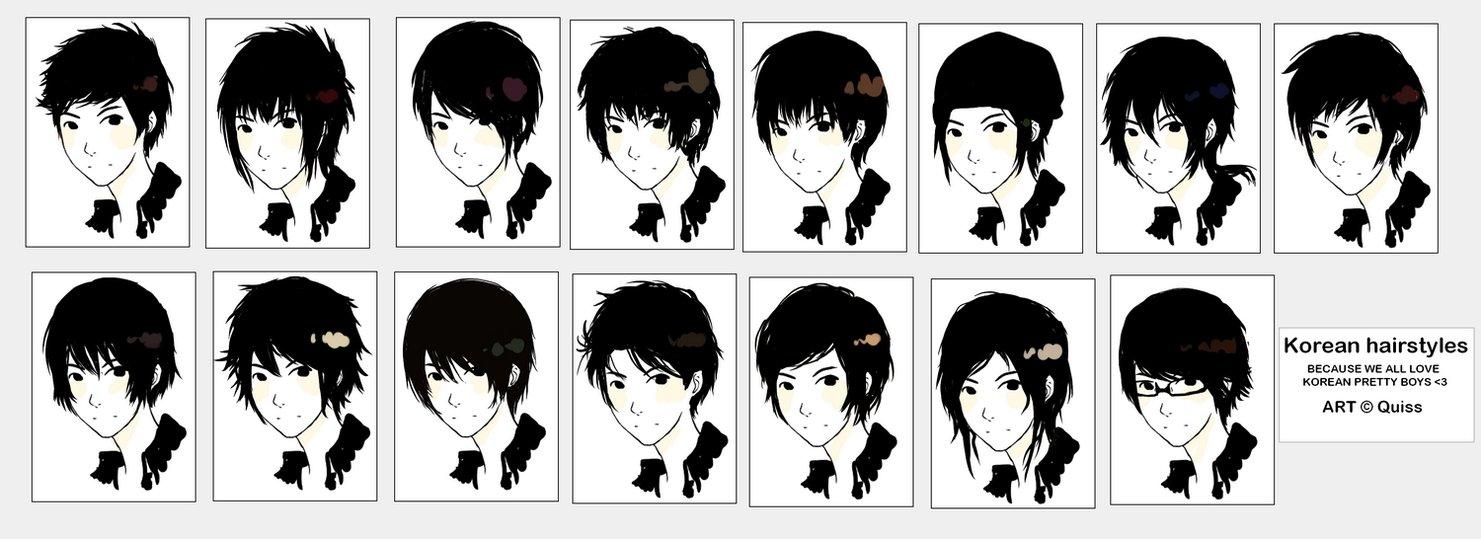 Boy Haircuts Drawing : Draw manga
