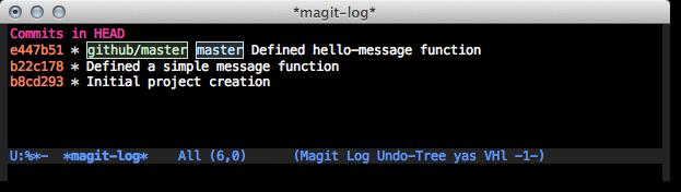 Emacs Magit log short listing - l l