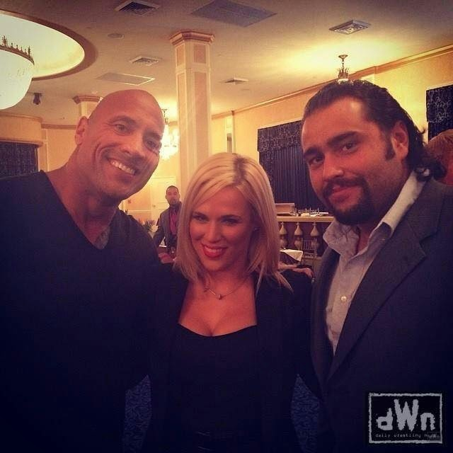 Recent Photo Of The Rock, Lana And Rusev.