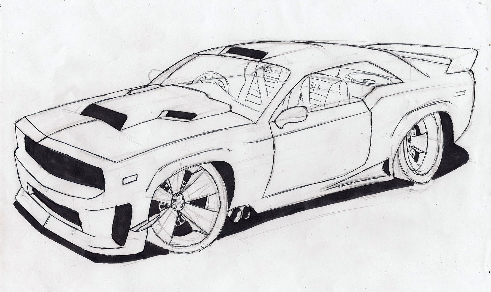 Car drawing 3d drawing for How to draw a cool a