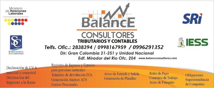 Balance Consultores :: como hacer mis declaraciones del sri :: Cuenca Ecuador