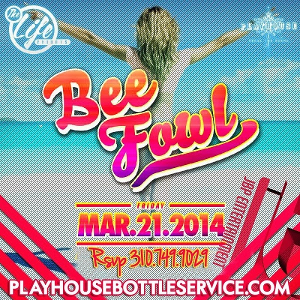 """Playhouse Fridays DJ BeeFowl event flyer 600x600"""