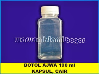 Botol Kotak PET 190 ml