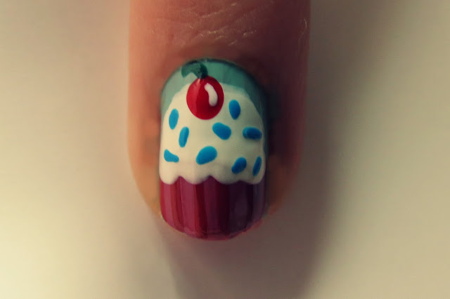 a photo of cupcake nail art easy tutorial