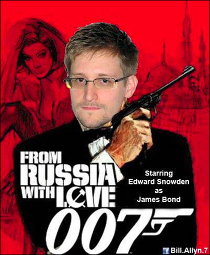 Edward Snowden Wacky Pictures: From Russia with Love