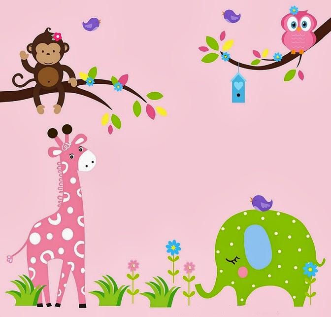 Decoraci n de las paredes del dormitorio infantil for Stickers pared bebe