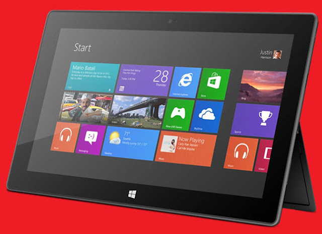 Microsoft has finally revealed the price of the much awaited Surface RT tablet - 32 GB without Touch Cover to cost $499 (Rs 26,390 approx.) onwards.Microsoft has formally revealed the prices of the Surface with Windows RT tablet by opening up the pre-orders at its online store. Microsoft's new Surface with Windows RT tablet has a 10.6-inch ClearType HD display and packs Nvidia Tegra 3 mobile processor inside.New 32GB version Microsoft Surface with Windows RT tablet will be available without Touch cover for $499 (and the touch cover will cost $100 (Rs 5,280 approx.) extra. The 64 GB version of Surface with Windows RT tablet along with the Touch Cover will cost $699 (Rs 36,960 approx.) and all versions will start shipping from October 26 onwards post launch of Windows 8, Windows RT and Windows Phone 8 formally. MICROSOFT, SURFACE, WINDOWS RT, WINDOWS 8 PRO, NVIDIA, TEGRA, T30, QUAD-CORE, TYPE COVER OS