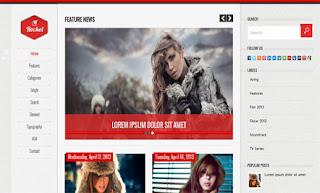 Rocket RedSkin Blogger Template