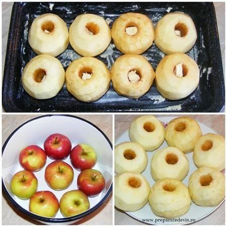 retete si preparate culinare din fructe pentru prajituri si torturi mere coapte la cuptor in unt,
