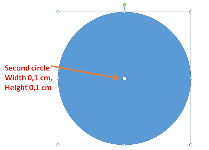how to find the middle point of a circle