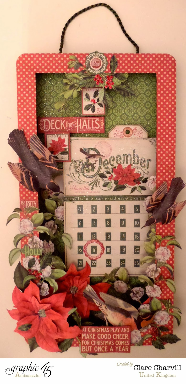 Time to Flourish Countdown to Christmas Advent Calendar Clare Charvill Graphic 45