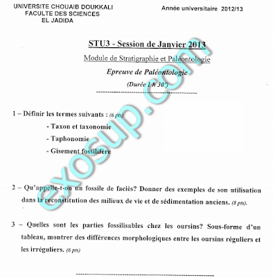 controles STU S4 FSJ sujet des examens
