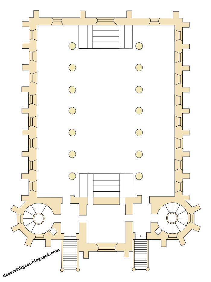Deseret digest original layout of the st george utah temple for Utah floor plans