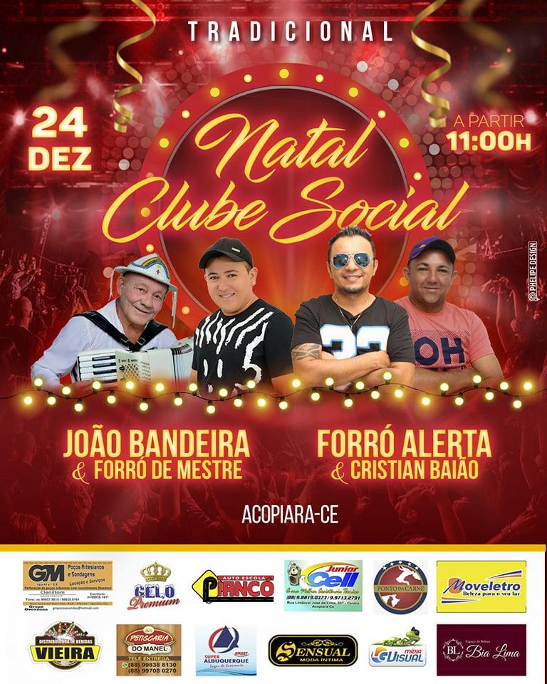 Tradicional festa de Natal no Clube Social de Acopiara