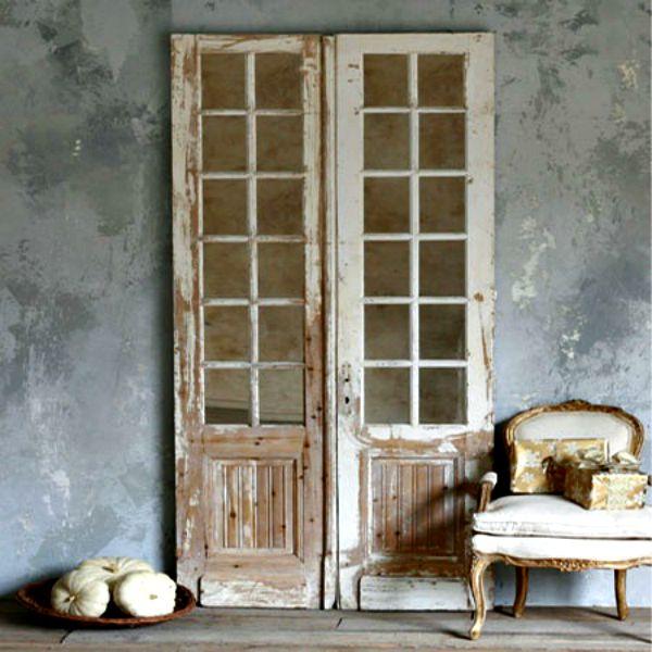 decorar con puertas antiguas vintage home style
