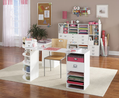 Digicrumbs even more ideas for creating a dream craft room for Small craft table with storage