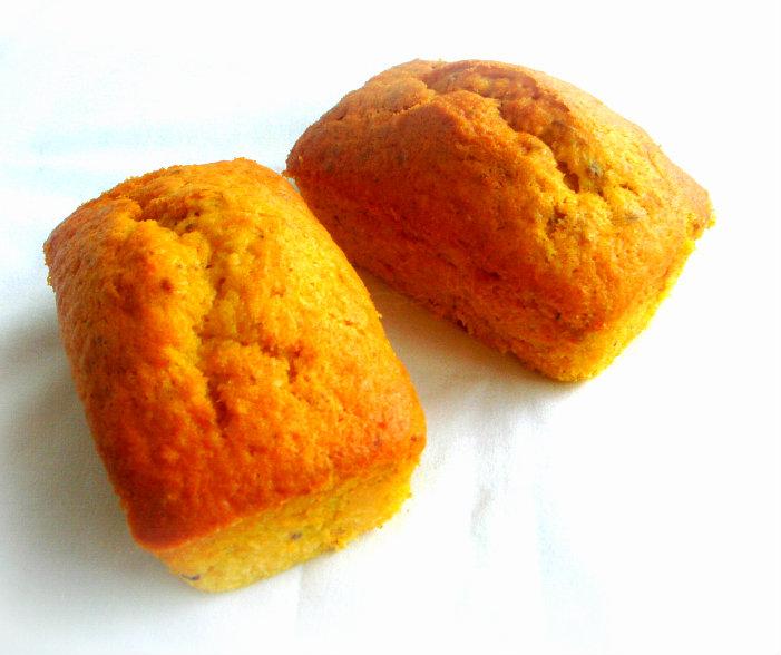 Priya's Versatile Recipes: Pumpkin Pistachio Pound Cake