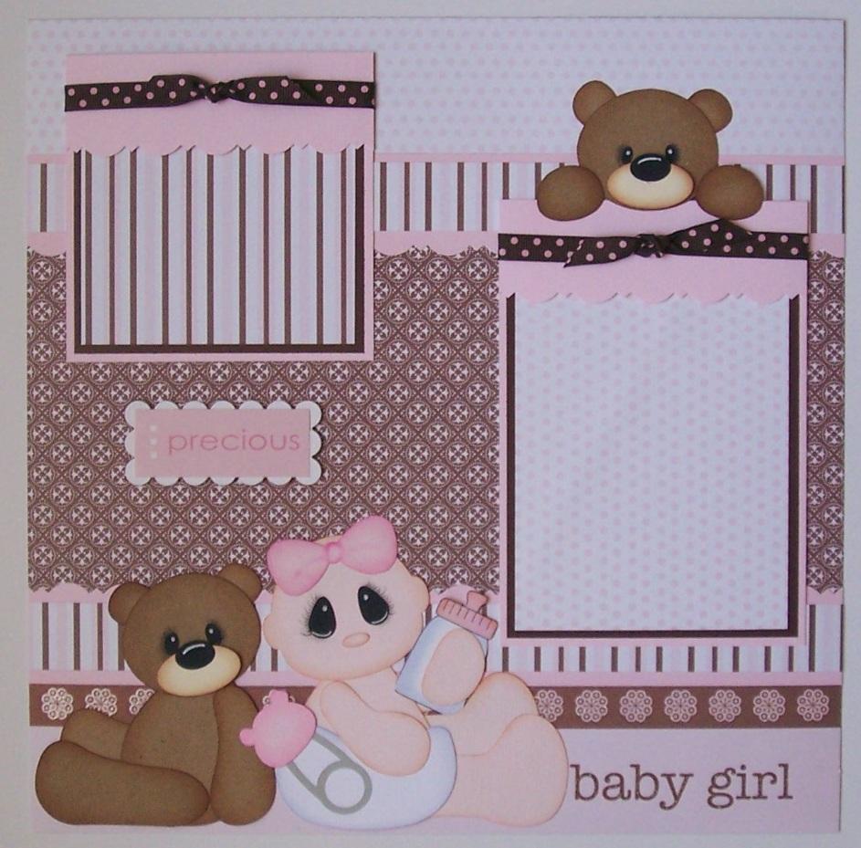Baby girl scrapbook ideas - Baby