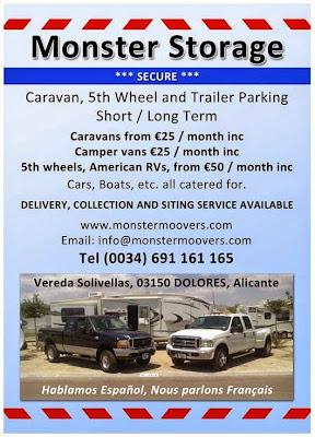 Caravan storage Spain