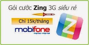 Hướng dẫn đăng ký 3G gói cước Zing của Mobifone