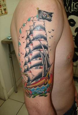 boy pirate tattoo