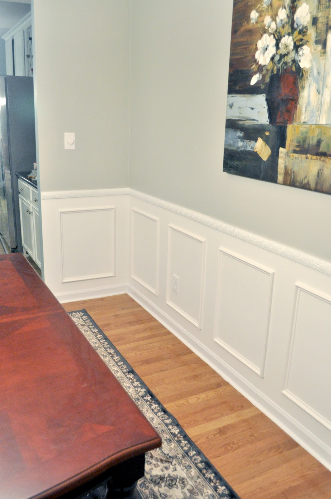 Not so newlywed mcgees wainscoting reveal for Dining room wainscoting
