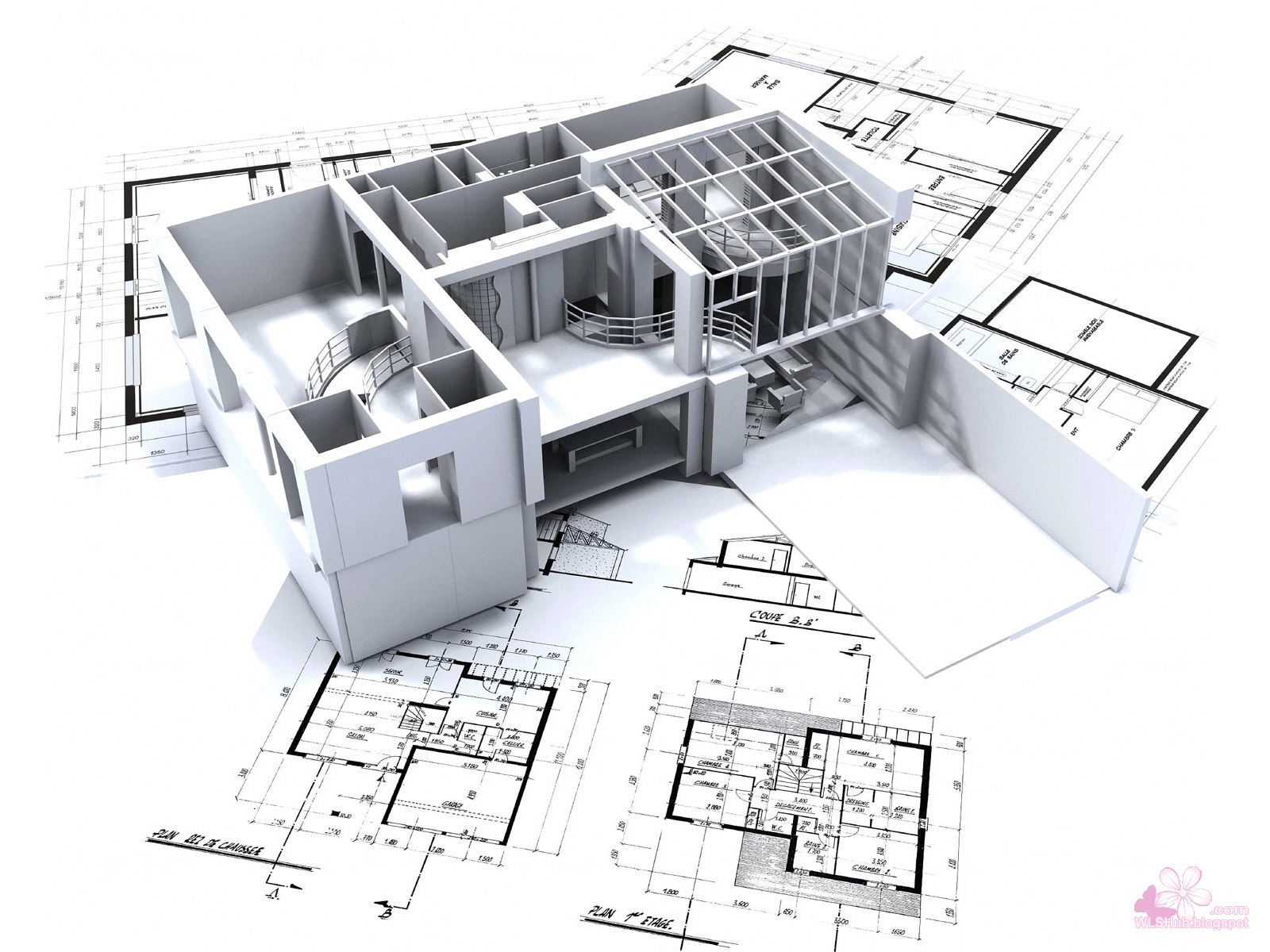 41 beautiful 3d best architectural design for your house for Architecture design blueprint