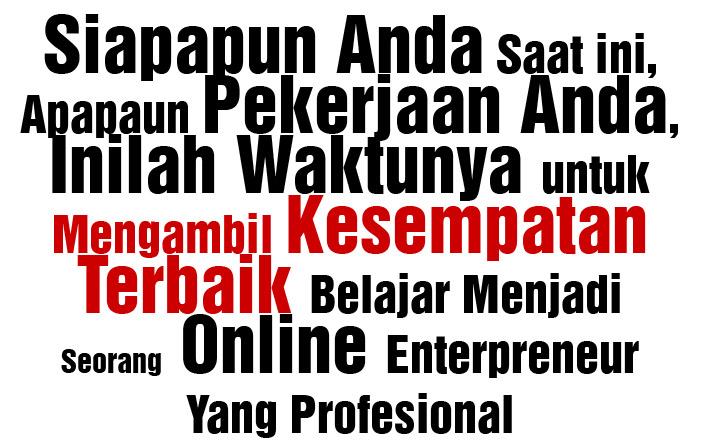 Belajar Menjadi Online Enterpreneur