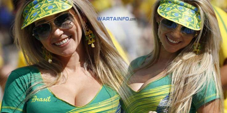 Foto Hot Fans Payudara Suporter Wanita cantik Seksi Brazil di Piala Dunia