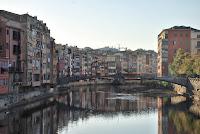 Pont d'en Gómez o Pont de la Princesa. Girona. Candaus. Riu Onyar. Monuments.