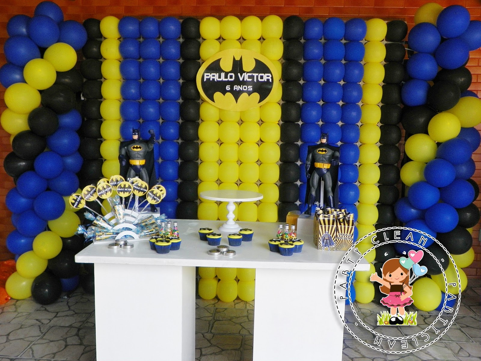 decoracao festa batman : decoracao festa batman:Party Clean: Festa do Batman