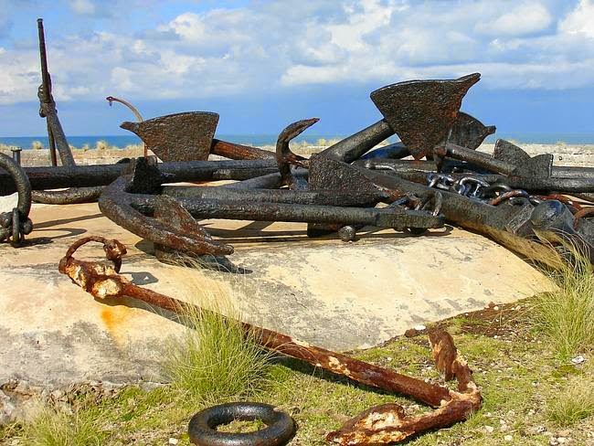 Jangkar kapal yang tenggelam di Bermuda